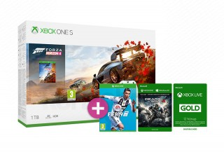 Xbox One S 1TB + Forza Horizon 4 + FIFA 19 + Gears of War 4 + 12 hónapos Live Gold tagság XBOX ONE