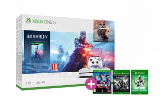 Xbox One S 1TB + Battlefield V + FIFA 19 + Gears of War 4 + Halo 5 Xbox One