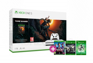 Xbox One S 1TB + Shadow of the Tomb Raider + FIFA 19 + Gears of War 4 Xbox One
