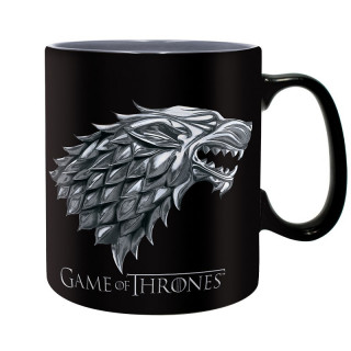 GAME OF THRONES - Bögre - Stark - Winter is coming - (460 ml) AJÁNDÉKTÁRGY
