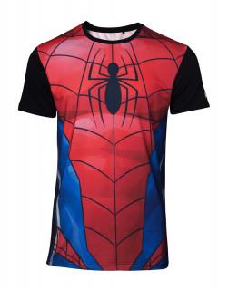 Marvel - Sublimated Spiderman Men's - Póló - L AJÁNDÉKTÁRGY