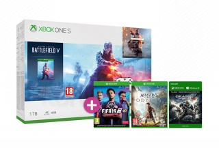 Xbox One S 1TB + Battlefield V + Assassin's Creed Odyssey + FIFA 19 + Gears of War 4 XBOX ONE