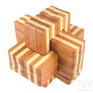 Logikai kereszt 6 részes (nagy, bambusz) AJÁNDÉKTÁRGY