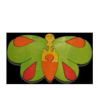Pillangó puzzle - zöld Ajándéktárgyak