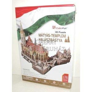 Mátyás-templom és Halászbástya 176 db-os 3D puzzle Ajándéktárgyak