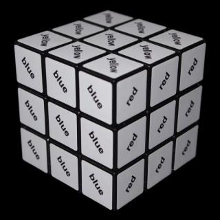 Rubik Fekete 3x3 szöveg kocka Ajándéktárgyak