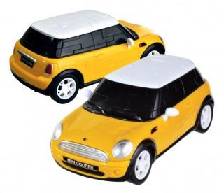 3D Puzzle - Mini Cooper - sárga Ajándéktárgyak