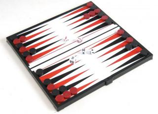 Összehajth. mágn. backgammon, mûanyag, 20x20x1cm - 1770 Ajándéktárgyak