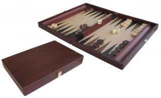Backgammon, 35x23 cm-es sötétbarna fadobozban - 601119 Ajándéktárgyak
