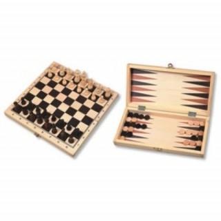 Sakk és Backgammon fából, 29 cm 670011 Ajándéktárgyak