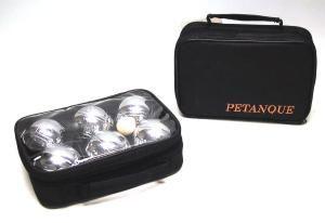 Pétanque, 6 fém golyóval, fekete táskában - 251204 Ajándéktárgyak