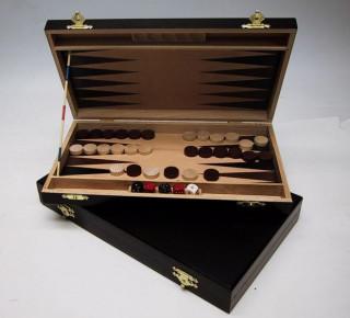 Backgammon fából, 28x15 cm, sötétbarna - 602113 Ajándéktárgyak