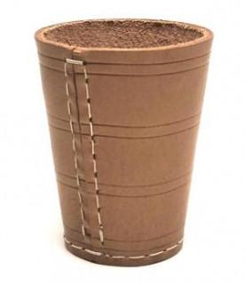 Kockavetõ pohár, nyers börböl 730607 Ajándéktárgyak