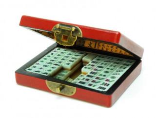 Mahjong vörös díszdobozban, 28x19cm 720408 Ajándéktárgyak