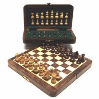 Fa sakk-készlet mágneses 20*10 cm - 670947 Ajándéktárgyak