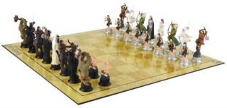 Sakk készlet - Lord of the Rings, Hobbit figurákkal - 675400 Ajándéktárgyak