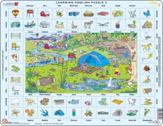 Larsen maxi puzzle 70 db-os Tanuljunk angolul! - Kirándulás EN4 Ajándéktárgyak