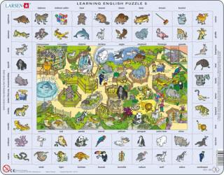 Larsen maxi puzzle 70 db-os Tanuljunk angolul! - Az állatkertben EN5 Ajándéktárgyak