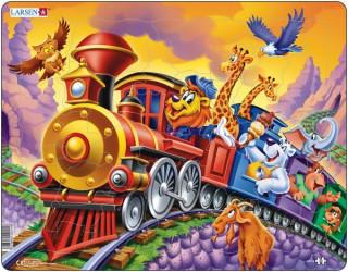 Larsen maxi puzzle 30 db-os Cirkuszi vonat maxi Us14 Ajándéktárgyak