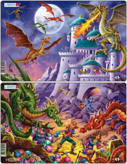 Larsen midi puzzle 28 db-os Sárkányok U12 Ajándéktárgyak