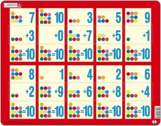 Larsen maxi puzzle 10 db-os Összeadás piros AR13 Ajándéktárgyak