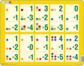 Larsen maxi puzzle 10 db-os Összeadás sárga AR14 Ajándéktárgyak