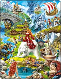 Larsen maxi puzzle 30 db-os Mesevilág US23 Ajándéktárgyak