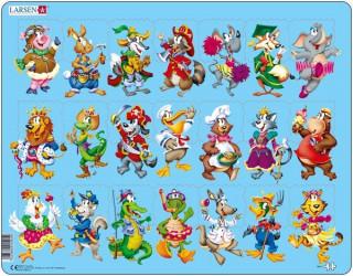 Larsen maxi puzzle 21 db-os Vidám állatok NM5 Ajándéktárgyak
