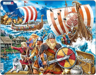 Larsen maxi puzzle 65 db-os Viking hajó FI8 Ajándéktárgyak