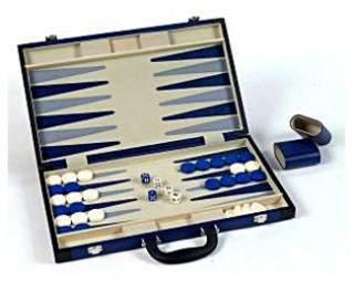 Backgammon 45 cm, műbőr - 605506 Ajándéktárgyak