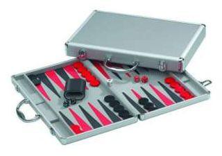 Backgammon 42 cm, Hydra Alumínium dobozban 601200 Ajándéktárgyak
