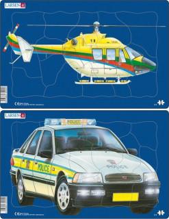 Larsen midi puzzle helikopter/teherautó_u3 Ajándéktárgyak