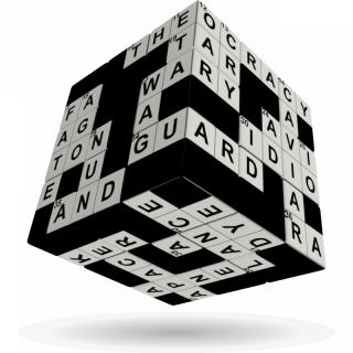 V-Cube 3x3 versenykocka, Keresztrejtvény AJÁNDÉKTÁRGY