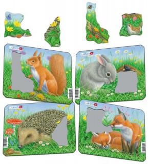 Larsen mini puzzle 5 db-os - Erdei állatok Z12 Ajándéktárgyak