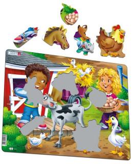 Larsen maxi puzzle 18 db-os - Farm gyerekekkel BM6 Ajándéktárgyak