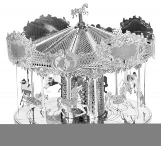 Metal Earth - Merry Go Round körhinta - 3D fémépítő Ajándéktárgyak