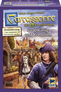 Carcassonne 6. kiegészítő - Graf, König und Konsorten (új kiadás) Ajándéktárgyak