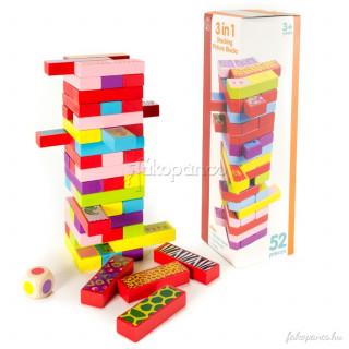 3 játék 1-ben (jenga, dominó, memória) Ajándéktárgyak