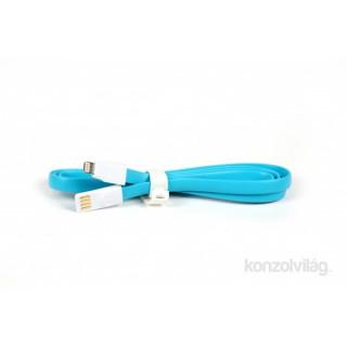 iTotal CM2641B 1m lightning lapos kék töltőkábel PC