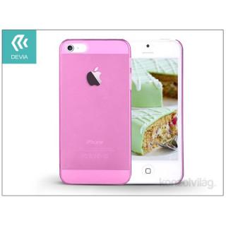 Devia ST983857 Smart iPhone 5/5S/5SE Crystal rózsaszín hátlap PC