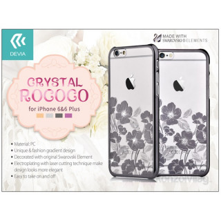Devia ST967697 Crystal Rococo iPhone 6/6S fegyver fekete hátlap PC