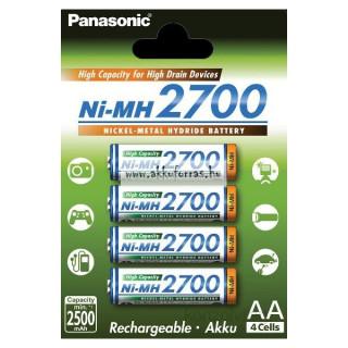 Panasonic Eneloop AA 2700mAh ceruza akkumulátor 4db/bliszter PC
