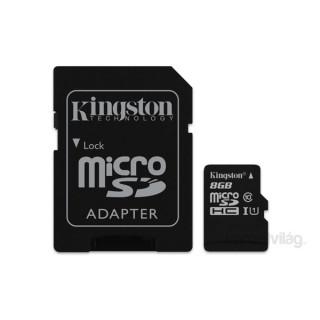 Kingston 8GB SD micro (SDHC Class 10 UHS-I)Industrial Temp Card (SDCIT/8GB ) memória kártya adapterrel PC