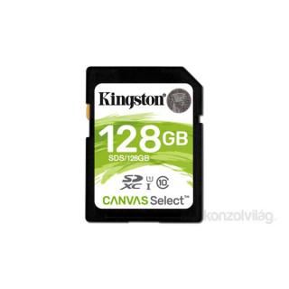 Kingston 128GB SD Canvas Select 80R (SDXC Class 10 UHS-I) (SDS/128GB) memória kártya PC