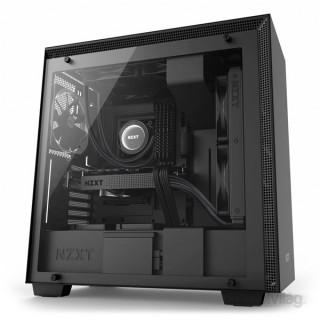 NZXT H700 Fekete (Táp nélküli) ablakos ATX ház PC
