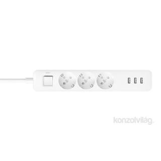 Xiaomi Mi Power Strip 3x USB-s 3 csatlakozós túlfeszültségvédő PC