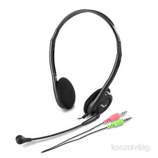 Genius HS-200C jack fekete headset PC