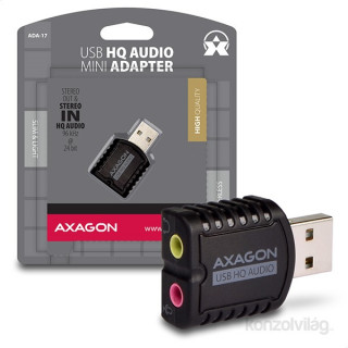 Axagon ADA-17 USB stereo HQ audio adapter PC