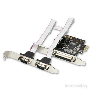 Axagon PCEA-PS 1 db párhuzamos portos 2 db soros portos 1 sávos PCI-Express kártya PC