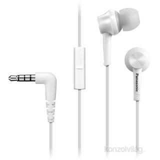 Panasonic RP-TCM115E-W fehér mikrofonos fülhallgató headset PC